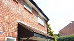 black UPVC cladding fascia white upvc soffit