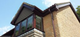 brown square guttering wordgrain fascias soffits