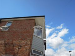 UPVC fascia soffit guttering with hardieplank cladding