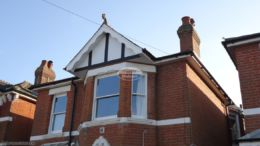 Decorative fascia, with mock tudor beams and