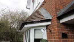 New fascia, soffit and guttering on the bay window