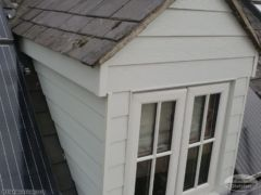 Hardieplank cladding and new fascia around dorma window