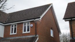 Cement mortar repoint gable end, replace fascia, soffit and guttering