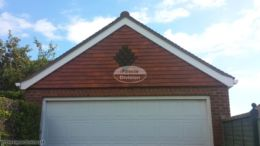 UPVC bargeboards on a garage gable end
