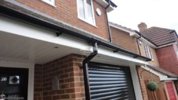 Install new UPVC fascia, soffit and guttering and fix led lighting in the porch soffit