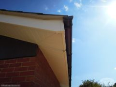 White ash fascia and soffit installation