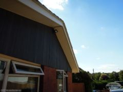 White ash Bargeboard and soffit installation