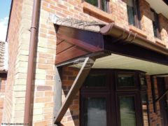 Rosewood UPVC cladding on porch Nottingham
