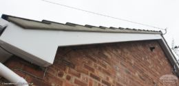 new bargeboard and soffit with repointed gable