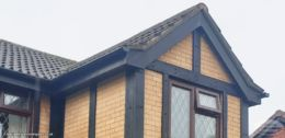 Black mock Tudor cladding