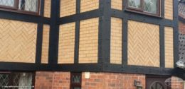 Mock Tudor cladding in black