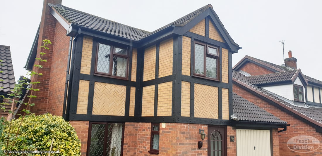 Replica Wood mock Tudor cladding
