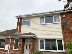 install new hardieplank sail coth cladding