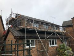 new fascias and soffits in rosewood upvc -Nottingham