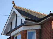 Tudor board with render board replacement